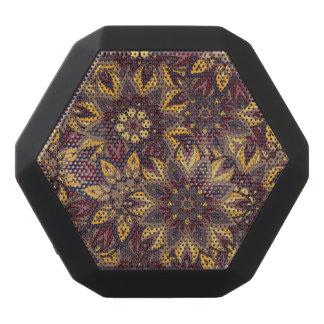 Colorful abstract ethnic floral mandala pattern de black bluetooth speaker