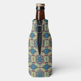 Colorful abstract ethnic floral mandala pattern de bottle cooler
