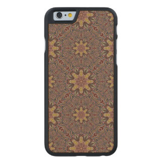 Colorful abstract ethnic floral mandala pattern de carved maple iPhone 6 case