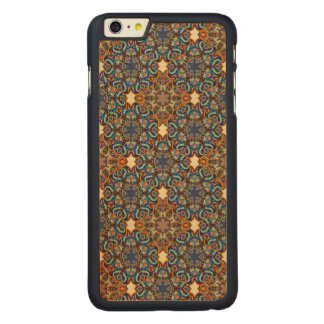 Colorful abstract ethnic floral mandala pattern de carved maple iPhone 6 plus case