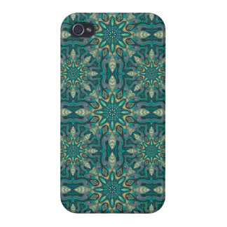 Colorful abstract ethnic floral mandala pattern de case for the iPhone 4