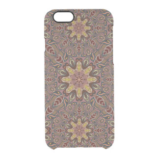 Colorful abstract ethnic floral mandala pattern de clear iPhone 6/6S case