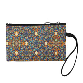 Colorful abstract ethnic floral mandala pattern de coin purse