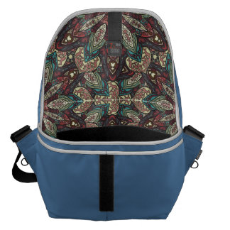 Colorful abstract ethnic floral mandala pattern de courier bag