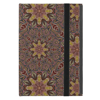 Colorful abstract ethnic floral mandala pattern de cover for iPad mini