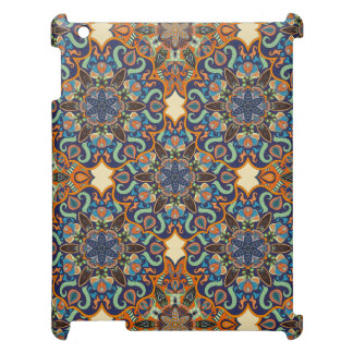Colorful abstract ethnic floral mandala pattern de cover for the iPad