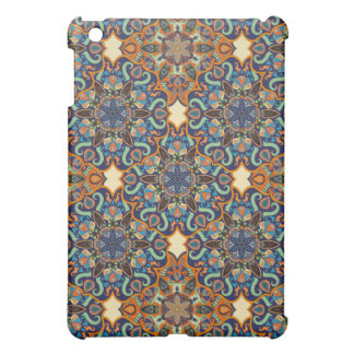 Colorful abstract ethnic floral mandala pattern de cover for the iPad mini