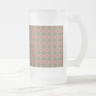Colorful abstract ethnic floral mandala pattern de frosted glass beer mug