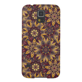 Colorful abstract ethnic floral mandala pattern de galaxy s5 case