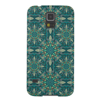Colorful abstract ethnic floral mandala pattern de galaxy s5 cover