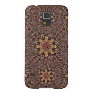 Colorful abstract ethnic floral mandala pattern de galaxy s5 covers