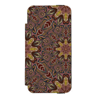 Colorful abstract ethnic floral mandala pattern de incipio watson™ iPhone 5 wallet case