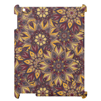 Colorful abstract ethnic floral mandala pattern de iPad case
