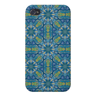 Colorful abstract ethnic floral mandala pattern de iPhone 4/4S case