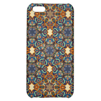 Colorful abstract ethnic floral mandala pattern de iPhone 5C covers