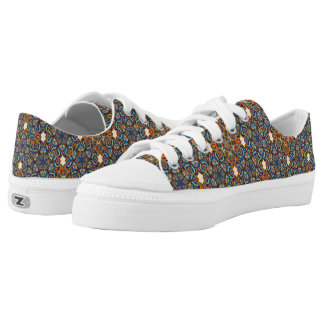 Colorful abstract ethnic floral mandala pattern de low tops
