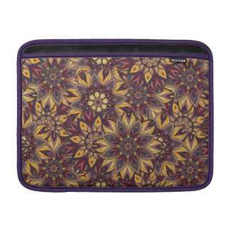 Colorful abstract ethnic floral mandala pattern de MacBook air sleeves