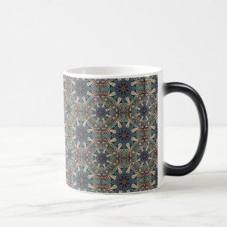 Colorful abstract ethnic floral mandala pattern de magic mug
