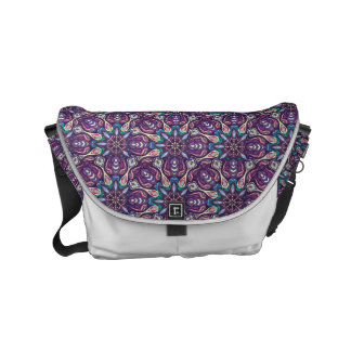 Colorful abstract ethnic floral mandala pattern de messenger bag