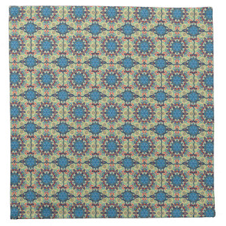 Colorful abstract ethnic floral mandala pattern de napkin