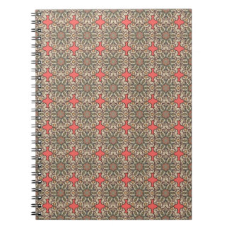 Colorful abstract ethnic floral mandala pattern de notebooks