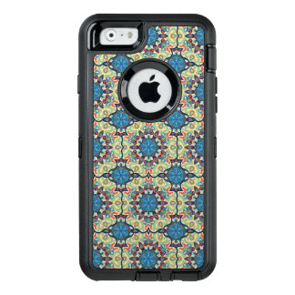 Colorful abstract ethnic floral mandala pattern de OtterBox defender iPhone case
