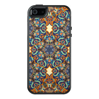 Colorful abstract ethnic floral mandala pattern de OtterBox iPhone 5/5s/SE case