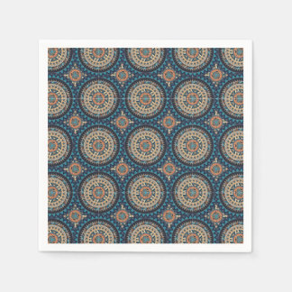 Colorful abstract ethnic floral mandala pattern de paper napkin