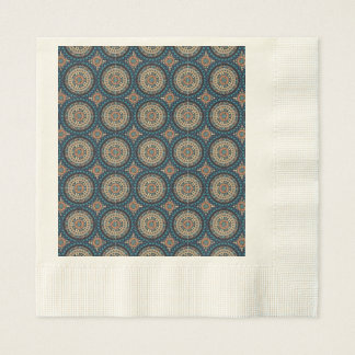 Colorful abstract ethnic floral mandala pattern de paper napkins