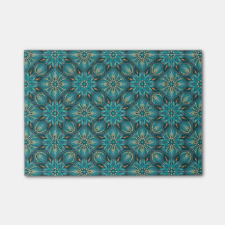 Colorful abstract ethnic floral mandala pattern de post-it® notes