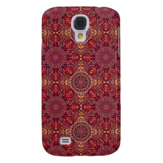 Colorful abstract ethnic floral mandala pattern de samsung galaxy s4 case