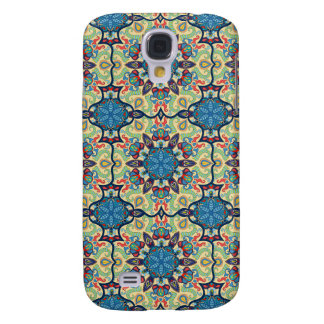 Colorful abstract ethnic floral mandala pattern de samsung galaxy s4 cases