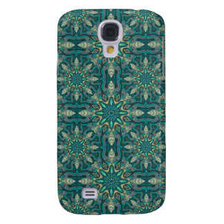 Colorful abstract ethnic floral mandala pattern de samsung galaxy s4 covers