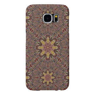 Colorful abstract ethnic floral mandala pattern de samsung galaxy s6 cases