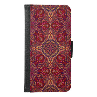 Colorful abstract ethnic floral mandala pattern de samsung galaxy s6 wallet case