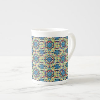 Colorful abstract ethnic floral mandala pattern de tea cup