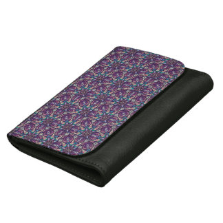 Colorful abstract ethnic floral mandala pattern de wallet for women