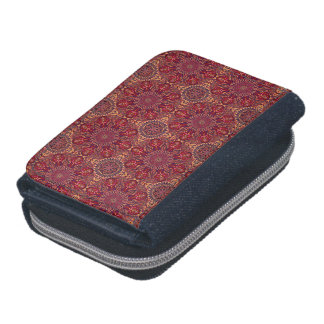 Colorful abstract ethnic floral mandala pattern de wallets
