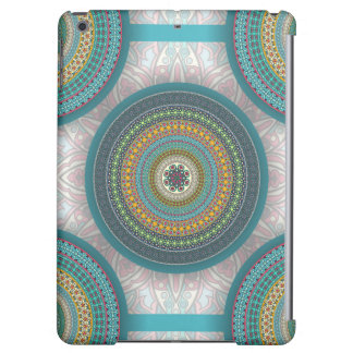 Colorful abstract ethnic floral mandala pattern iPad air case