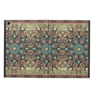 Colorful abstract ethnic floral mandala pattern iPad air cover