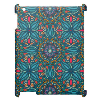 Colorful abstract ethnic floral mandala pattern iPad cases
