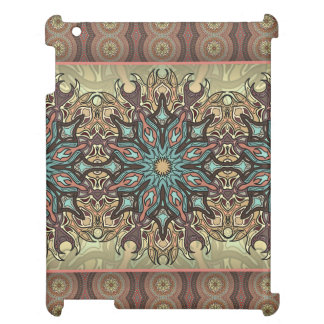 Colorful abstract ethnic floral mandala pattern iPad covers