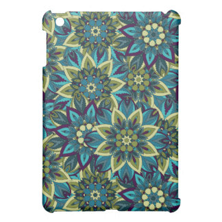 Colorful abstract ethnic floral mandala pattern iPad mini case