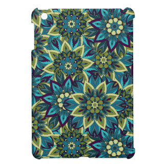 Colorful abstract ethnic floral mandala pattern iPad mini cases