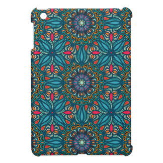 Colorful abstract ethnic floral mandala pattern iPad mini cover