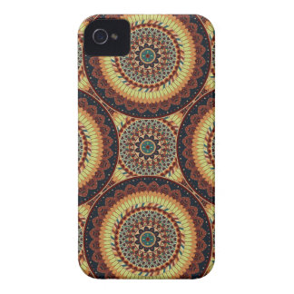 Colorful abstract ethnic floral mandala pattern iPhone 4 Case-Mate case
