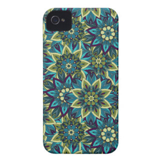 Colorful abstract ethnic floral mandala pattern iPhone 4 cases