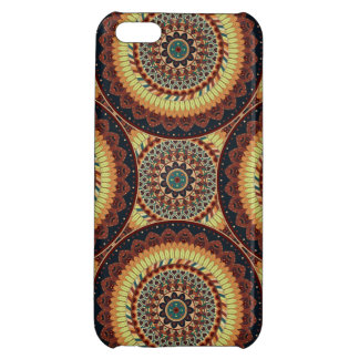 Colorful abstract ethnic floral mandala pattern iPhone 5C cover