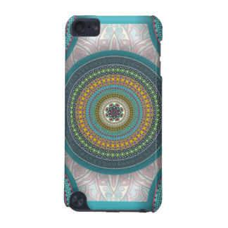 Colorful abstract ethnic floral mandala pattern iPod touch (5th generation) cases