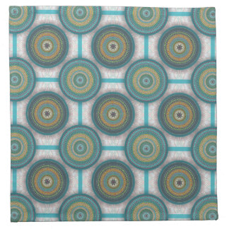 Colorful abstract ethnic floral mandala pattern napkin